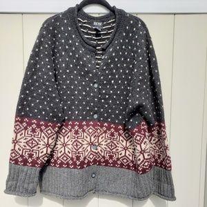 SKYR 100% Wool Cardigan Winter Sweater
